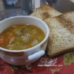Sup Tomat Pedas dengan Bola Daging