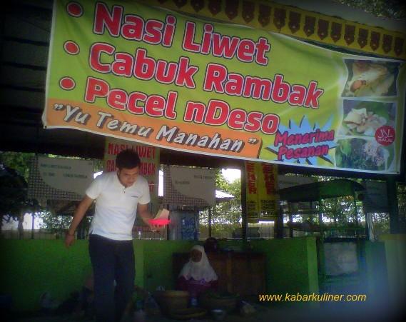 """Cabuk Rambak & Pecel Ndeso """"Yu Temu"""" di belakang Stadion Manahan Solo"""