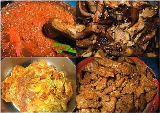 Sambal uleg Mak Yeye dan aneka lauk seperti ikan pari panggang, telur dadar, dan tempe goreng