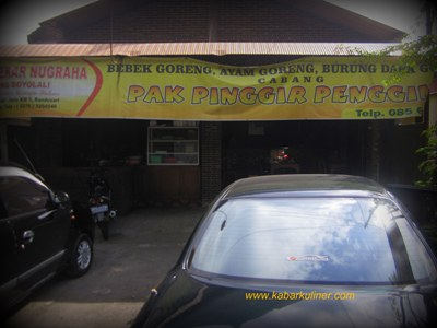 Warung Bebek Goreng Pak Pinggir Cabang Boyolali di Jl. Perintis Kemerdekaan
