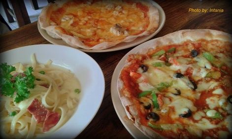 Beberapa menu di Nanamia Pizzeria - Yogyakarta