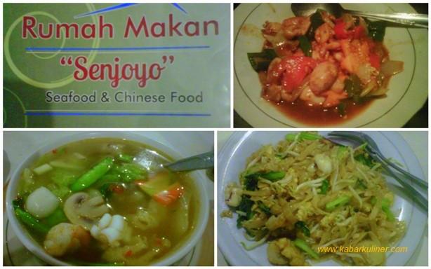 Beberapa menu di Rumah Makan Senjoyo - Salatiga